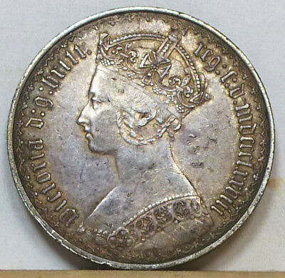 Great Britain Gothic Florin 1878 Very Fine NO RESERVE