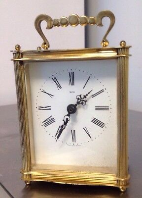 Antique Brass SMITHS INDUSTRIES GREAT BRITAIN BATTERY Carriage Clock