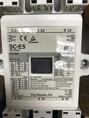 New Fuji Electric Sc-E5 Magnetic Contactor. Coil Dc200-240V, Ac300-250V