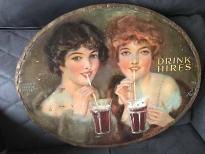 Hires Root Beer Antique Sign Rare