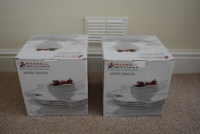 Maxwell & Williams Motion Square set: large, small, and bowls (8 of each)