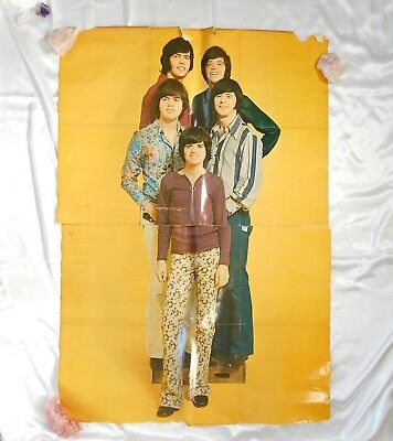 VTG 70s Giant 4' Donny Osmond & The Osmond Brothers Yellow Poster Wall Art Print