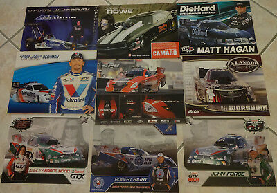 NHRA Dragsters Collectors cards