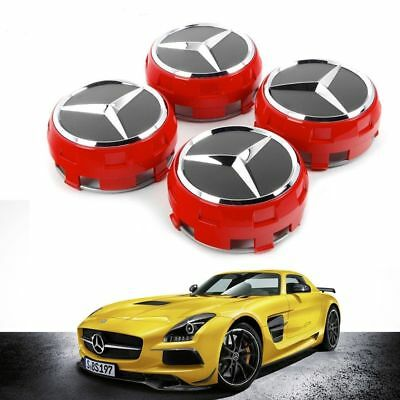 Replacement Mercedes Amg Alloy Wheel Hub Centre Cap -Red 75Mm A B C E S Ml Class