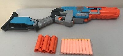 Nerf Zombie Strike Sledgefire in Excellent Fully Loaded With 9 Darts **RARE**
