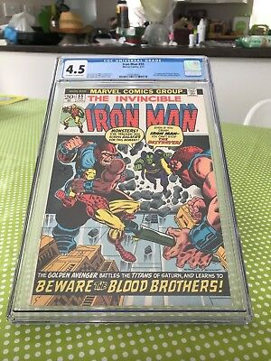 Iron Man #55 CGC 4.5 (unrestored)-1st appearance of Thanos & Drax the Destroyer
