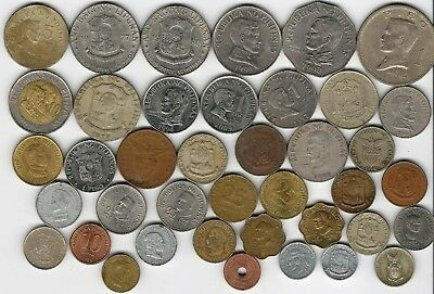 40 different world coins from PHILIPPINES sopme scarce