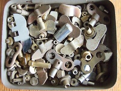 Job lot vintage clock keys and setters for clock maker repairs, spares