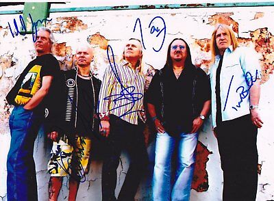 Uriah Heep Trevor Bolder Rare Amazing In Person Signed W/proof Coa