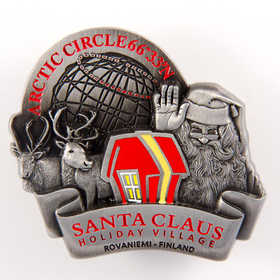 Metal Fridge Magnet: Finland. Santa Claus Holiday Village