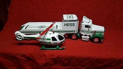 1995 Hess Toy Truck And Helicopter~~~New In Box~~Case Fresh~Battery Tested Lr