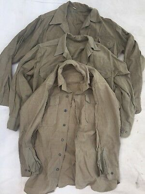 WWII WW2 US Army Wool Shirt LOT of 3