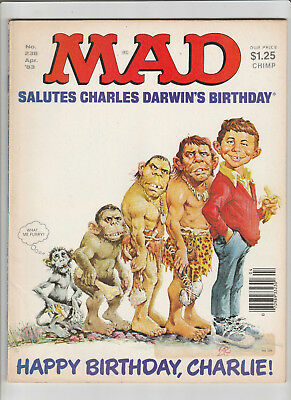 MAD Magazine #238 Apr 1983 Charles Darwin PVT BENJAMIN Officer and a Gentleman