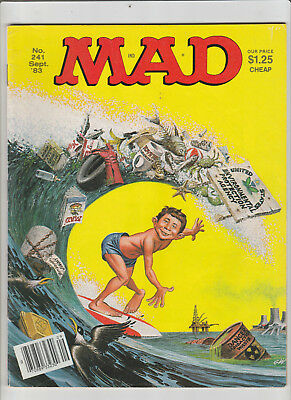 MAD Magazine #241 Sep 1983 Square Pegs KNIGHT RIDER TV satires Sony Walkmans