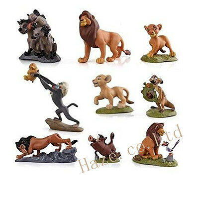 The Lion King Figures Collection Movie Simba Toy Doll 9pcs/set Cake Topper CCC