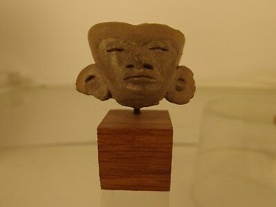 3322  head of maya man with earmuffs mayan culture 100 bc