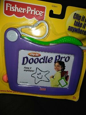 Fisher Price Kids Toy  Doodle Pro Magnetic Drawing Travel & Portable Size *new*