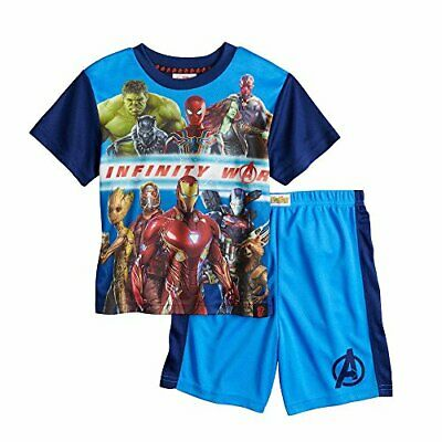 Marvel Avengers Infinity War Guardians Galaxy Boy's Pajama Shorts Set
