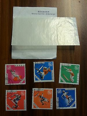 Briefmarken Ecuador Mexico 1968 Sportler