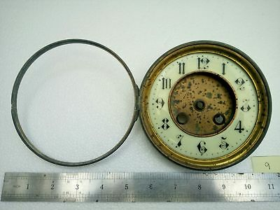 Antique Vintage Brass Clock Face Dial Hinged Bezel Clock Part 4 3/4""