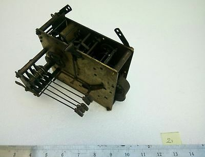 Antique Vintage Brass Clock Movement - Hammers - Spares / Repairs