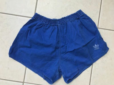 Original Adidas Vintage Short, Baumwolle, blau, Gr. 6 West Germany