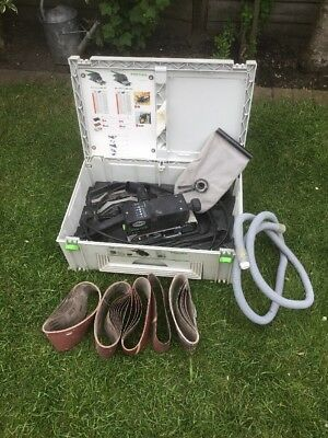 Pre-owned Festool BS75E Belt Sander & Accessories In Systainer