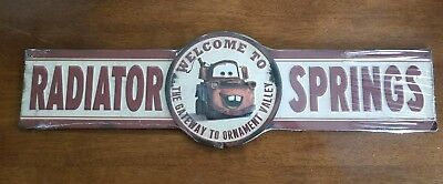 Disney CARS LAND MATER Welcome to Radiator Springs 3D Embossed Metal Sign CARS