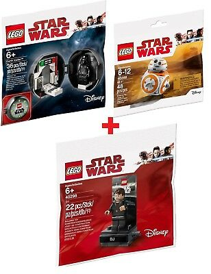 LEGO® POLYBAG SW 40288 BB-8 + 40298 DJ Code Breaker + 5005376 Darth Vader Pod