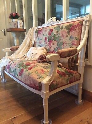 Antique French Decorative Boudoir Sofa~Country Chateau~ Original Victorian 1800s
