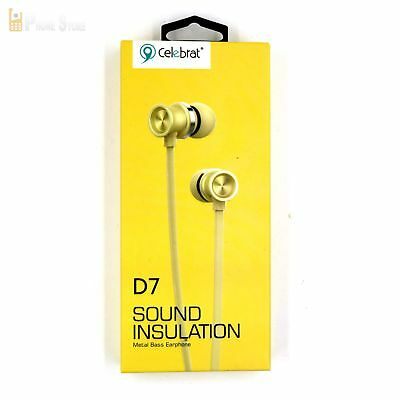Cell Phones & Accessories D7 In-ear Headset Kopfhörer Mikrofon Bass Gold Hybird Ohrhörer Power Lg K7 Cell Phones & Accessories
