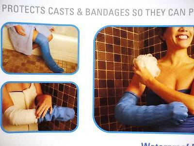 CHILD CastShield Bandage Protector Waterproof Cover Arm Leg Foot Shower 2pk Blue