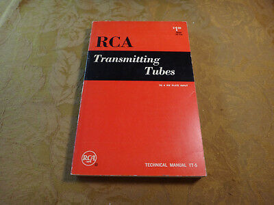 Vintage 1962 RCA Transmitting Tubes Technical Manual - Free S&H USA