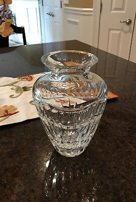"""Waterford Crystal Flower Vase 8"""" Pompeii Collection"""