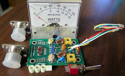RF Power / SWR METER 630 METERS 475 KC KIT CALIBRATED FOR 100 WATTS  1:3 VSWR