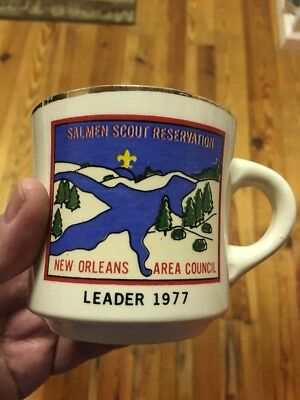 Vintage Boy Scout Camp Salmen New Orleans Area Council Mug 1977