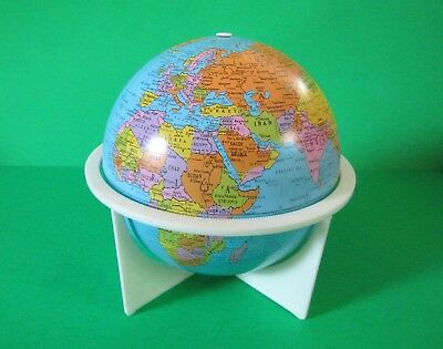 "Vintage Revere 6"" Tin Litho Globe with Stand by Replogle"