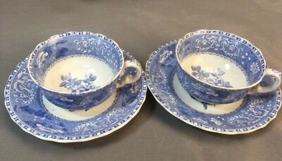 Copeland Spode CAMILLA Blue Set Of 2 Cups With Saucers
