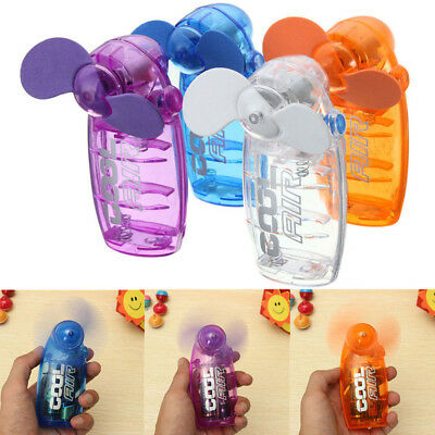 1pc Mini Colorful Portable Pocket Fan Hand Held Battery Blower Cooler Cool Air