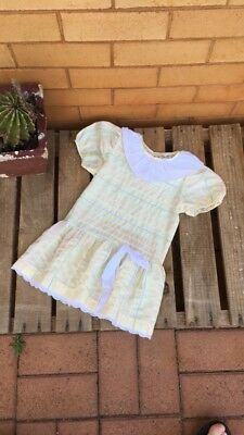 Vintage Girls Retro Summer Sun Dress Size 4 Immaculate Free Postage