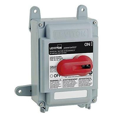 Leviton DS30-AX 30 Amp, 600 Volt, Non-Fused PowerSwitch Safety Disconnect