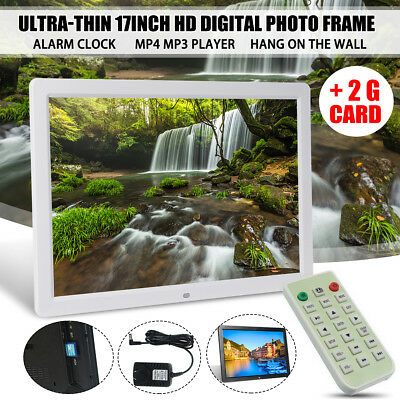 2G Card +17'' HD LED Digital Photo Picture Frame Movie MP4 Player+Remote Control