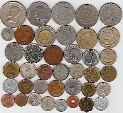 39 different world coins from PHILIPPINES some scarce