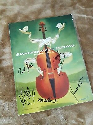 Savannah Music Festival Program hand signed by Derek Trucks Band 2005 Allman ABB