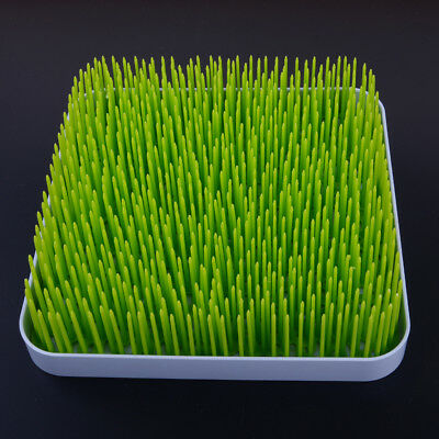 Green Large Lawn Grass Patch Countertop Bottle Drying Rack Kitchen Accessory