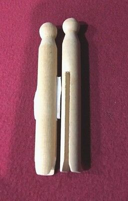 Mini Dolly Wooden Pegs Natural Wood Pegs Craft Arts Project set of 2