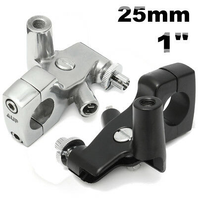 25mm Clutch Lever Perch Mirror Mount Holder Bracket For Honda Shadow 600 VT750