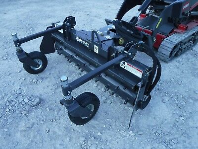 "Toro Dingo Mini Skid Steer Attachment - 48"" Manual Angle Harley Rake - Ship $199"
