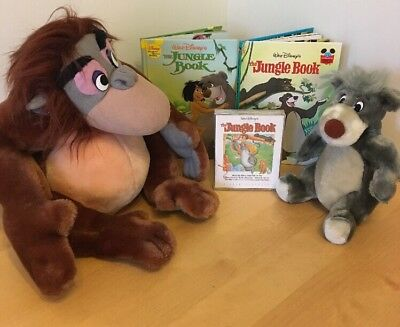 Disney Jungle Book King Louie & Baloo Soft Toys Plush Audio Books Early Years