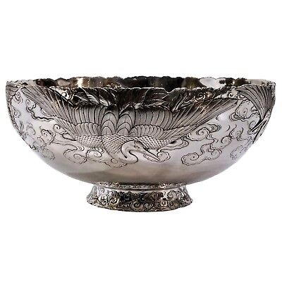 Fine Antique Silver & Gold/mixed Metal Bowl, Meiji Period, Japan